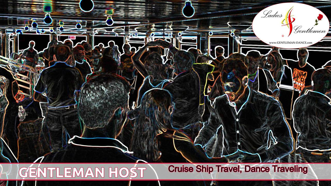 gentleman host cuise ship travel dance traveling